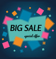 big sale special offer banner with ribbon vector image vector image