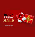 black friday sale banner vector image vector image