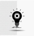 bulb develop idea innovation light glyph icon on vector image vector image