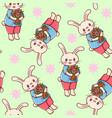 bunnies vector image vector image
