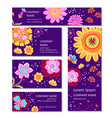 business or invitation cards templates in vector image vector image