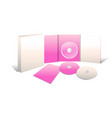 cd and book presentation 3d vector image
