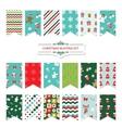 christmas festive bunting flags set vector image