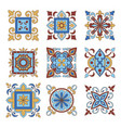 collection floral pattern vector image vector image
