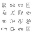 collection monochrome optometry icons vector image