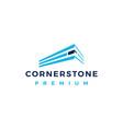 cornerstone logo icon vector image vector image
