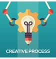 Creative Process - flat design single icon vector image