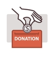Donation and volunteer work icon vector image vector image