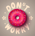 donut worry vector image vector image