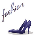 fashionable woman s shoes blue color and fashion vector image vector image