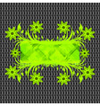 floral frame on metal texture vector image