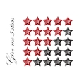 Gemstones stars rating isolated on white vector image