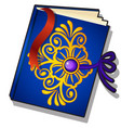 gift decorated book with golden florid pattern vector image vector image