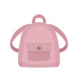 girl backpack icon flat style vector image vector image
