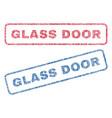glass door textile stamps vector image vector image