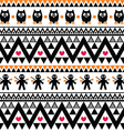 Halloween seamless pattern - tribal Aztec print vector image