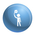 handicap man icon simple style vector image