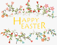 Happy easter cards with Floral bouquets vector image vector image