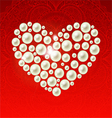heart of the pearls vector image vector image