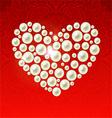 heart pearls vector image vector image