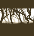 horizontal of pinewood forest vector image vector image