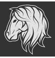 Horse symbol logo for dark background vector image vector image