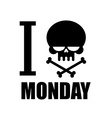I hate Monday A symbol of hatred Emblem with a vector image vector image