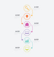 infographics 6 options vector image