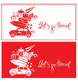lets go travel red 380 vector image vector image