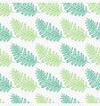 light and dark green fern frond silhouettes vector image vector image