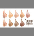liquid foundation face cream beautiful vector image