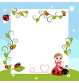 Little girl with large sheet of paper vector image vector image