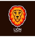 logo template with bright lion head vector image vector image