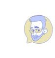 male head chat bubble profile icon man avatar vector image vector image