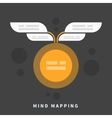 Mind map template with place for your content vector image