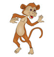 monkey gesturing vector image vector image