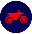 Motocross dirt-bike sign vector image vector image
