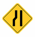 narrow road sign vector image