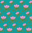 natural flowers with leaves design background vector image vector image