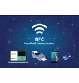 nfc near field communication with tools technology vector image vector image