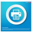 office printer icon abstract blue web sticker vector image vector image