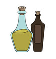 olive oil glass bottle icon image vector image