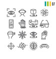 outline set of virtual reality entertainment vector image vector image