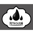 Petroleum price design vector image