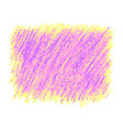 pink and yellow crayon scribble texture stain vector image