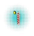 Rail semaphore icon comics style vector image vector image