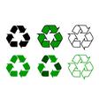 recycle symbol set vector image
