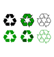 recycle symdol set vector image vector image
