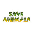 save animals typography banner template europe vector image