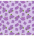 Seamless pattern of lilac flowers with leaves vector image vector image